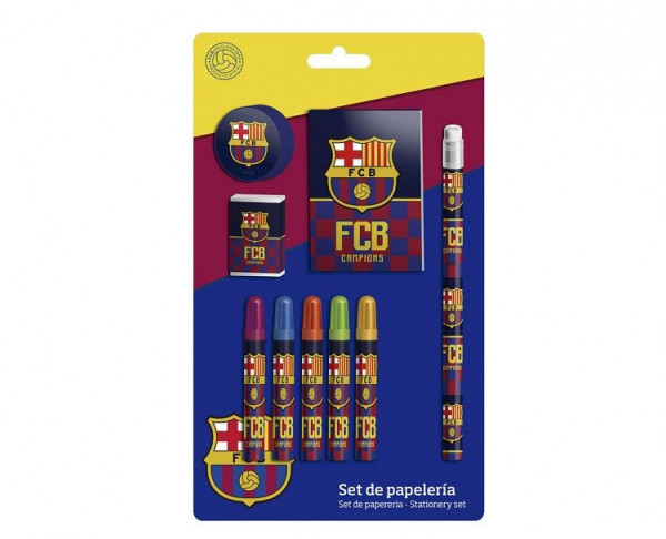 Conjunto escolar infantil de regalo FC Barcelona