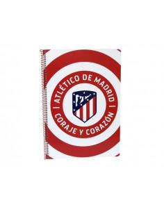 Cuaderno Atlético de Madrid tamaño folio 80 hojas