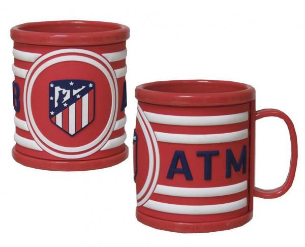 Taza infantil Atlético de Madrid con relieve 3D