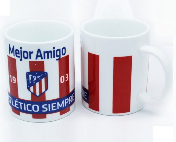 Taza de porcelana Atlético de Madrid Mejor Amigo
