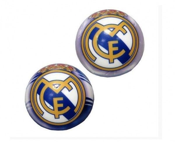 Pelota de goma blanda anti stress escudo Real Madrid