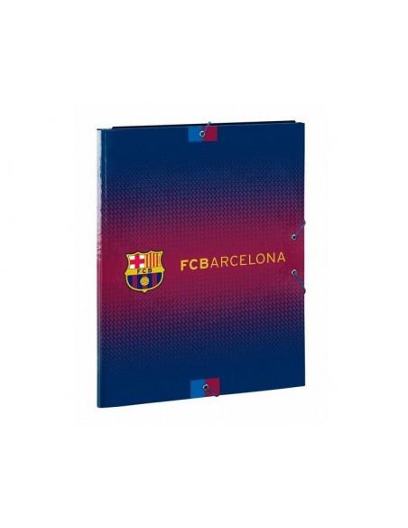 Carpeta solapas con cierre de gomas FC Barcelona
