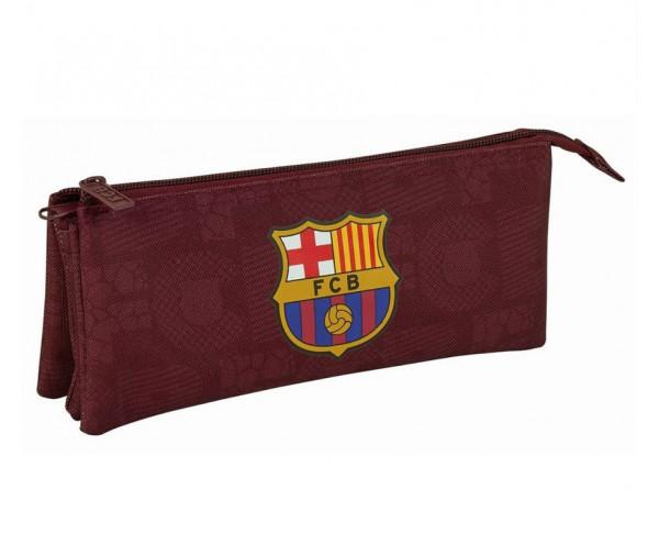 Estuche triple FC Barcelona soccer
