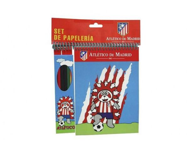 Conjunto de papeleria infantil Atlético de Madrid
